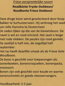 Roodbonte Friese Stokboon