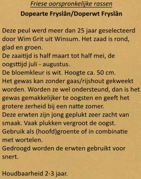 Doperwt Fryslân