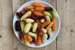Snackworteltjes regenboog (bio)