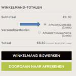 Zo geef je aan dat je je bestelling in Gorredijk wilt afhalen